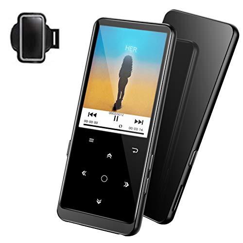 32GB Lettore MP3, con Bluetooth 4.2, Lettore musicale Supereye con radio FM capacità di registrazione, display 2.4 , Suono HiFi, Espandibile fino a 64G (Cuffie e fascia da braccio inclusi)