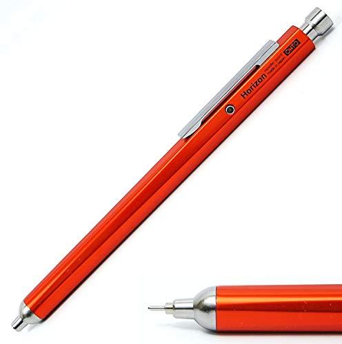 Ohto Horizon Aluminum Hexagon Barrel Needlepoint Ballpoint Pen NBP-707H, Orange