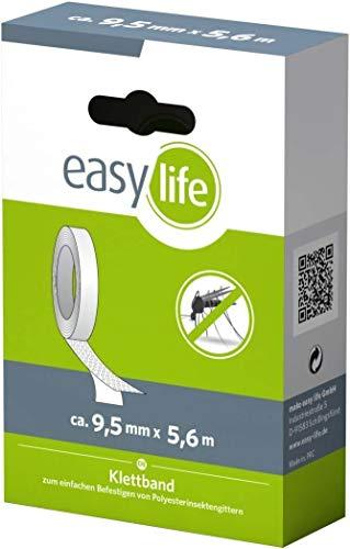easy life Befestigungsband 5,6m für Fliegengitter selbstklebendes Klettband / Klebeband zur sicheren Befestigung, rückstandslos entfernbar ?