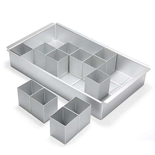 LinTimes Zahlen Backformen Buchstaben Kuchenform Aluminium Antihaft-abnehmbare verstellbare DIY-Ausstechformen für Geburtstag, Jubiläum, Party