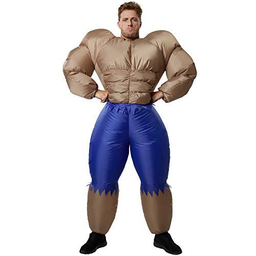 dressforfun 302361 - Aufblasbares Unisex Kostüm Bodybuilder, Perfektes Kostüm um die Muskeln Spielen zu Lassen