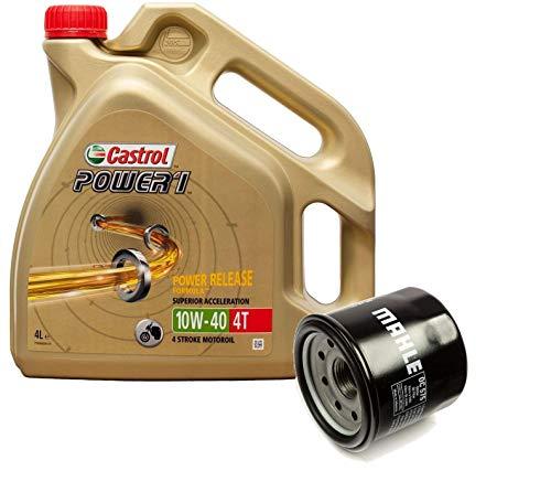 Castrol Kit Duo Power 1 Aceite de Motores 10W-40 4T 4L + Filtro Mahle OC575