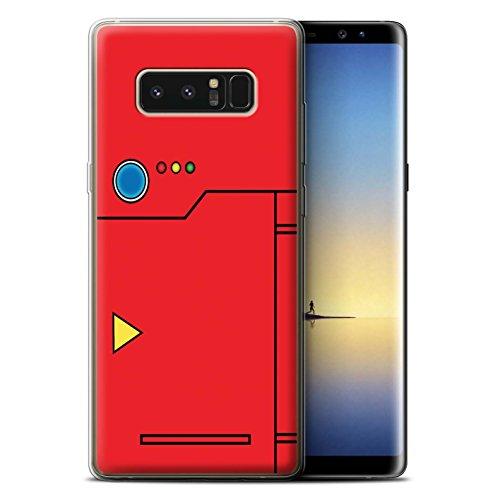 Phone Case for Samsung Galaxy Note 8/N950 Anime Cartoon Codex Red Design Transparent Clear Ultra Soft Flexi Silicone Gel/TPU Bumper Cover