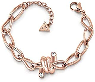 Guess Womens Stainless Steel Fashion Bracelet - UBB29023-L, Color Rose Gold, Size L