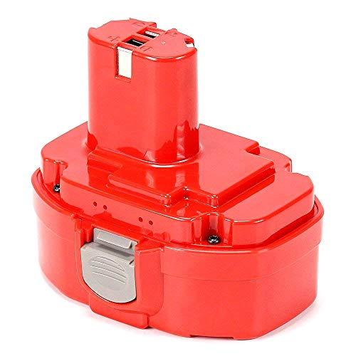 PA18 Battery POWERGIANT 18V 3.0Ah Ni-Mh Replacement Battery for Makita PA18 1834 1822 1823 1835 8391D 192827-3 192829-9 193159-1193102-0 192826-5 192827-3