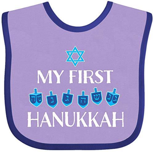 Inktastic My 1st Hanukkah Dreidels in Blue Baby Bib Lavender and Purple 386ac