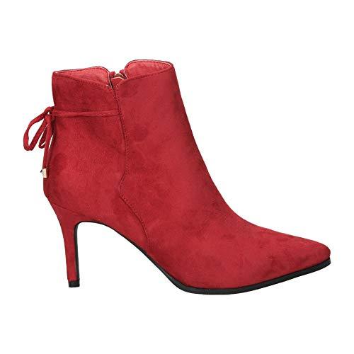 Botines Maria Mare 62486 Moda Joven Rojo