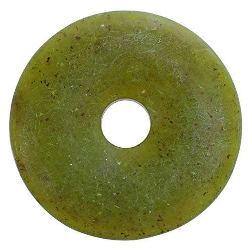Lebensquelle Plus Serpentin, China Jade Edelstein Donut Ø 40 mm Anhänger