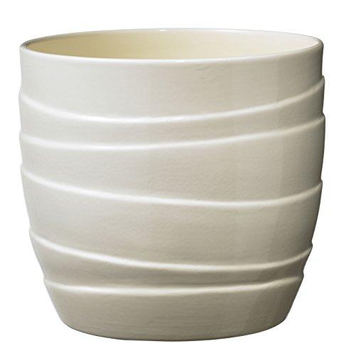 Soendgen Keramik Blumenübertopf, Barletta, vanilla, 16 x 16 x 15 cm, 0754/0016/1591