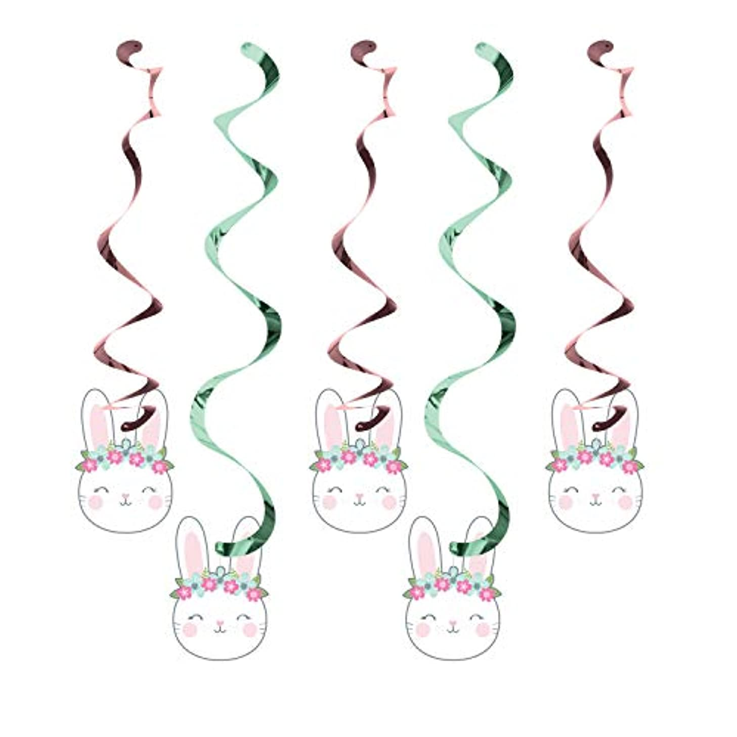 Creative Converting 336649case Bunny Party Dizzy Danglers, 39