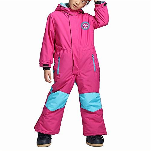 ZDAMN Ski Suit Steken Effen Kleur Kinderen Een stuk Ski Suit Baby Winter Sneeuwpak Met Hood Jumpsuits Outdoor Waterdichte Kleding Baby & Peuter Jongens Ski Jas en Sneeuwpak Se