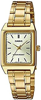 Casio Watch for Women Analog, Stainless steel, Gold, LTP-V007D-9E