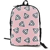 Diamonds Adult Premium Travel Backpack, Water-Resistant College School Bookbag, Sport Daypack, Outdoor Rucksack, Laptop Bag for Men&Women
