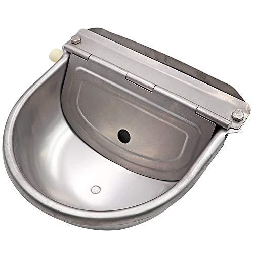Tazón de agua de acero inoxidable con Scupper para caballo perro ganado cabra ovejas cerdo flotador válvula agua canal granja suministros