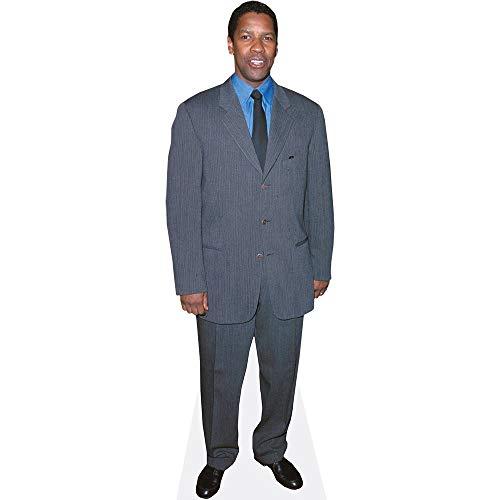 Celebrity Cutouts Denzel Washington (Grey Suit) Pappaufsteller Mini