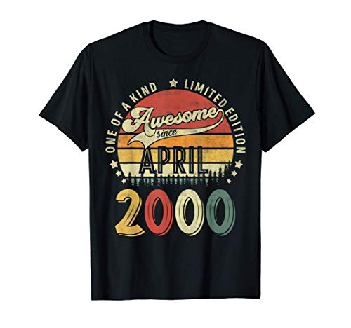 Funny 21 years old 21st birthday Design Made in April 2000 T-Shirt