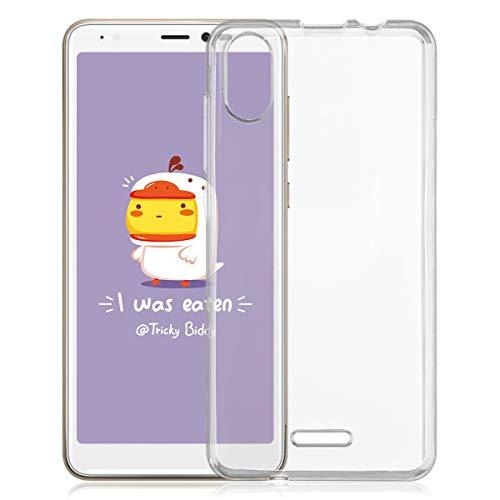ROVLAK Hülle für Wiko Y60 Kratzfeste TPU Weiche Silikon Hülle+Stoßfestes Dünnes Klares Tasche für Wiko Y60 Smartphone Cover