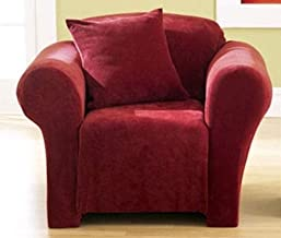 Sure Fit Stretch Sterling Chair Slipcover in Garnet