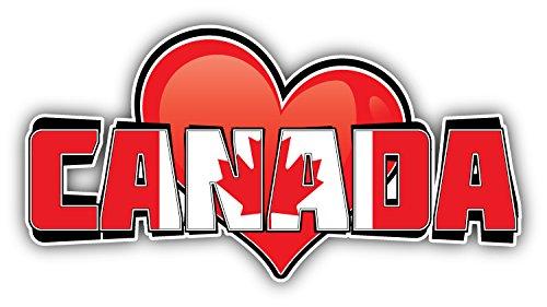 novland Kanada Art Herz Flagge Reise Sprüche Autoaufkleber Aufkleber Autoaufkleber Autoaufkleber Sticker Sticker 15,2 x 7,6 cm