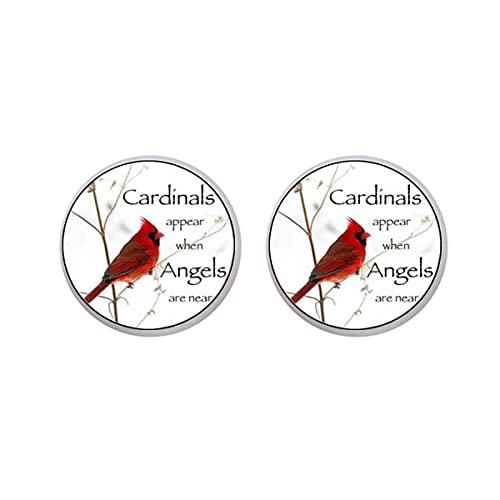 Pendientes de pájaro cardenal rojo, pendientes de clip sin perforación, cardenal de Navidad, pájaro cardenal rojo, disfraz de cosplay, joyería de cumpleaños