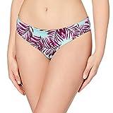 Marca Amazon - IRIS & LILLY Braga de Bikini por la Cadera Mujer, Multicolor (Palm Print), XS, Label: XS