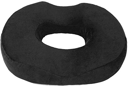 Donut Pillow Seat Cushion Orthopedic Design| Tailbone & Coccyx Memory Foam Pillow | Pain Relief for Hemorrhoid, Pregnancy Post Natal, Surgery, Sciatica and Relieves Tailbone Pressure by Pillow Palace.