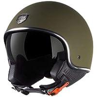 Astone Helmets - Minijet 66 - Casque jet vintage - Casque style rétro US - Casque de moto en polycarbonate - matt army XS