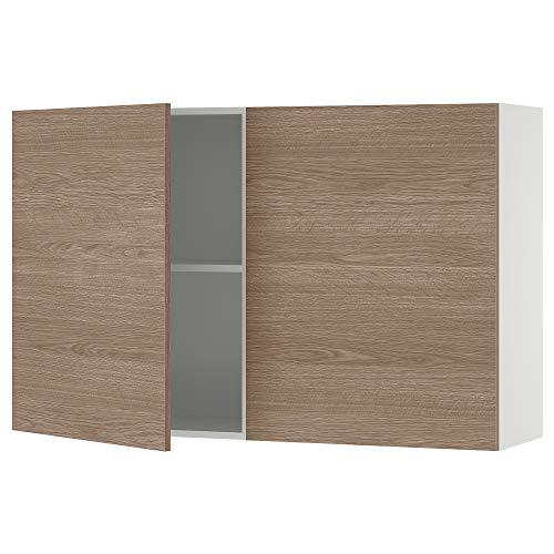 KNOXHULT armario de pared con puertas 120x31x75 cm efecto madera/gris