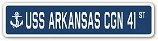 USS Arkansas CGN 41 Street Sign us Navy Ship Veteran Sailor Gift