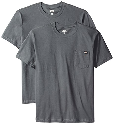 Dickies Men's Short Sleeve Pocket T-Shirt 2-Pack, Charcoal, 2X