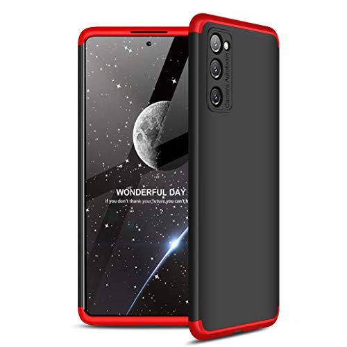 GOGME Funda para Samsung Galaxy S20 FE (Fan Edition) 5G/4G Funda, [Tacto Sedoso Mate] Premium Silicona Ligera Delgado PC + TPU Bumper Rubber Caso, Rojo/Negro