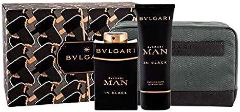 BVLGARI MAN IN BLACK by BVLGARI 3.4 OZ EAU DE PARFUM SPRAY 3.4 OZ AFTER SHAVE BALM POUCH MEN