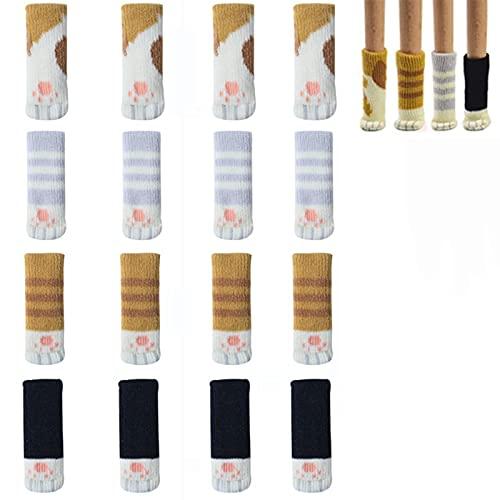 32 calcetines de silla cojines de mesa de lujo, calcetines de muebles de gato, calcetines de muebles de alta elasticidad, protectores de suelo y muebles fiables, reducen el ruido