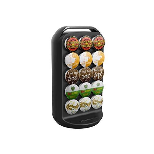 Mind Reader 30-Capacity Carousel Storage, Black Coffee Pod Holder, 6.85 x 6.85 x 12.52