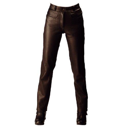 Roleff Pantalón para Moto de Cuero Racewear, Negro, 42