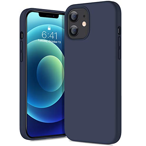Diaclara Compatible with iPhone 12 Case and iPhone 12 Pro Cases Silicone 6.1 Inch (2020) Slim Fit Liquild Silicone Gel Rubber Cover with Full Protection (Blue)