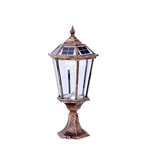 KMYX koloniale buitenverlichting solarlamp palen led lantaarn antiek retro van aluminium professioneel buiten gazon binnenplaats Engels tafellamp buitenlamp draagbaar dek Shop instap