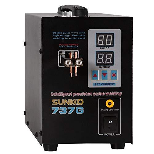 Micro-ComputerSpot Schweißgerät mit LED-Licht S787A Schweißgerät Pulsmesser Batterie Spot Schweißen für 18650 Akku