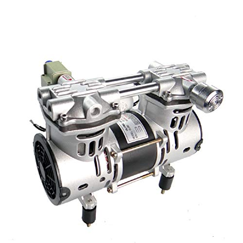 MXBAOHENG Öllose Membran-Vakuumpumpe für Labor, ölfrei, Kolbendämpfer, Vakuumpumpe, 70 l/min, -91 kpa 220V 80l/Min