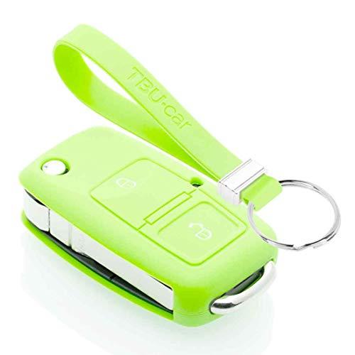 TBU car Funda Carcasa Llave Compatible con Seat - Funda de Silicona - Cover de Llave Coche - Glow in The Dark