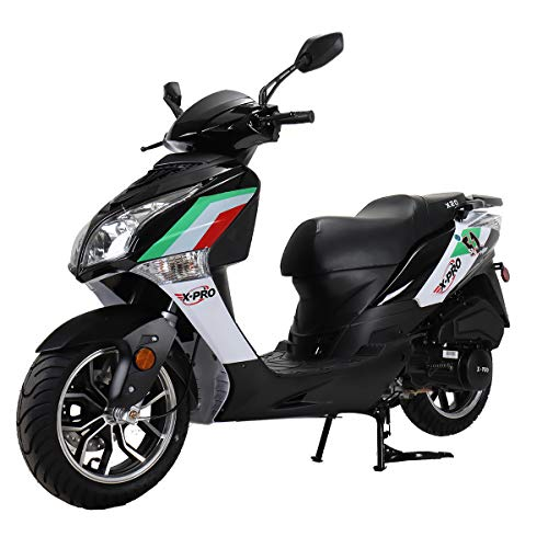 X-PRO X20 150CC Moped Scooter Street Scooter Gas Moped 150cc Adult Scooter Bike with 13' Aluminum Wheels! (Black)