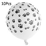 Chenggong 10 unidades de globos de látex con huellas de perro de 12 pulgadas para decoración de fiesta de bebé
