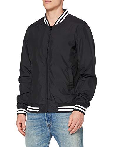Urban Classics Herren und Jungen Light College Blouson, leichte Jacke für Frühling und Sommer, Übergangsjacke, Collegejacke, schwarz, L