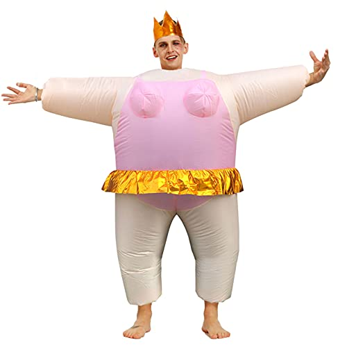 Hao-zhuokun Aufblasbares Ballerina-Kostüm,Sumo Blow Up Kostüm Halloween Cosplay Kostüme Aufblasbares Cosplay Kostüm Wrestler Funny Dress Cosplay Party Kleid für Erwachsene