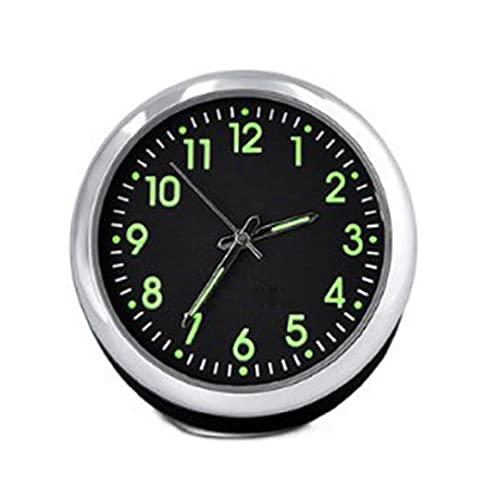Mini reloj luminoso de cuarzo para coche exquisito reloj digital universal de bolsillo Stick On despertador para dormitorio
