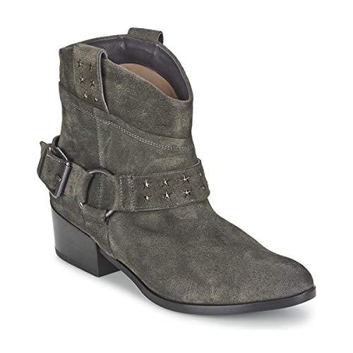 JANET&JANET FADILA Enkellaarzen/Low boots dames Antraciet Laarzen