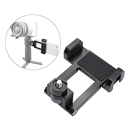 Andoer Gimbal Stabilizer Phone Holder Smartphone Clip Clamp Bracket 1/4 Inch Screw with Cold Shoe Mount Compatible with Zhiyun Crane M2/Weebill Lab/Weebill S/Crane M3 Lab Stabilizer