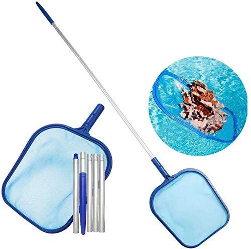 Reinigungswerkzeug Für Schwimmbäder, Fischernetz Mit Flacher Rute, Zubehör Für Schwimmbecken 5-teilige Rute, Abnehmbares Fischernetz, 122-cm-Rute