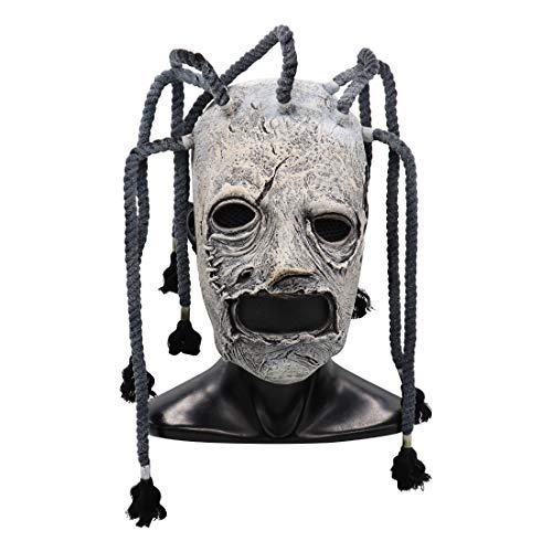 Tanwenling33 Máscara de Us, Máscara de Cerdo Slipknot Joey Voldemort, Máscara del Rey de la Noche, Máscaras de Cabeza Completa de Látex Casco Facial Máscara de Terror de Terror de Halloween
