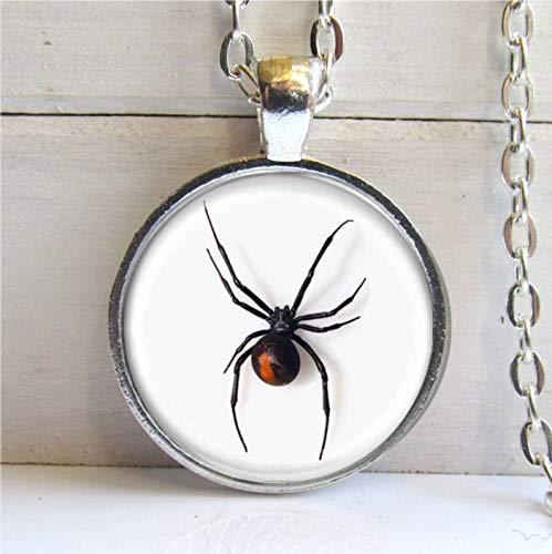 Death Devil Pingente de aranha da Viúva Negra, colar de aranha da Viúva Negra, joia de aranha, colar de Halloween, chaveiro ou colar